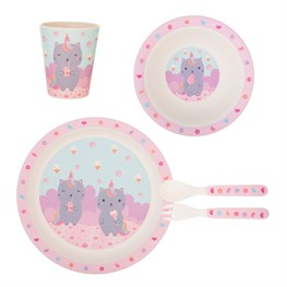 Luna Caticorn Bamboo Tableware Set