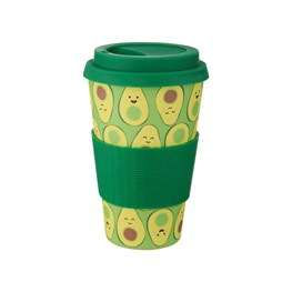 Happy Avocado Bamboo Coffee Cup