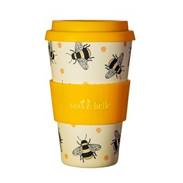 Busy Bees Bamboo Coffee Cup