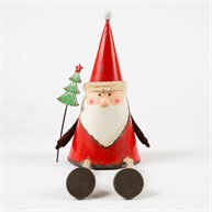 Sitting Nordic Santa with Christmas Tree Decoration
