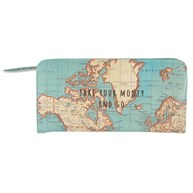 Vintage Map Take Your Money & Go Wallet