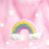 Wonderland Rainbow and Clouds Hanging Felt Decoration