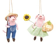 Farmer Pigs Felt Decoration Assorted