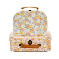 Pink Daisy Suitcases - Set of 2