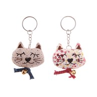 Vintage Cat Keyring Assorted