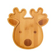 Reindeer Bamboo Shaped Plate