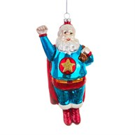 Sleigh No More Super Santa Shaped Bauble