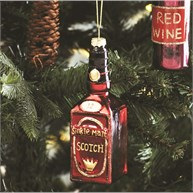 Lets Celebrate Scotch Bottle Shaped Bauble
