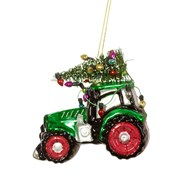 Festive Tractor Shaped Bauble