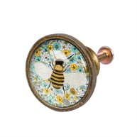 Summer Floral Bee Drawer Knob