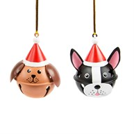 Festive Dog Hanging Bell Decoration Assorted