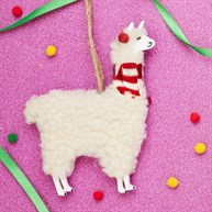 Festive Llama Hanging Decoration