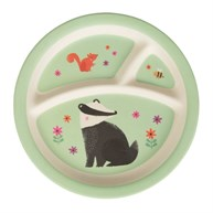 Woodland Friends Bamboo Kid's Plate