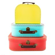 Brights Retro Suitcases - Set of 3