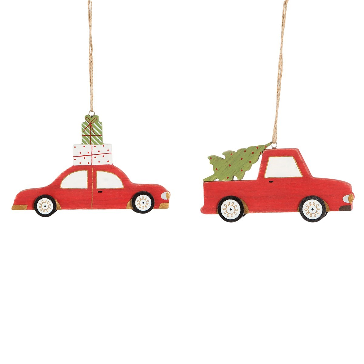 Christmas Car Decorations.Coming Home For Christmas Car Decorations Set Of 2