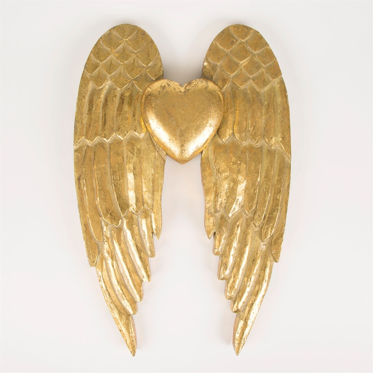 Gold Angel Wings & Heart Wall Decoration