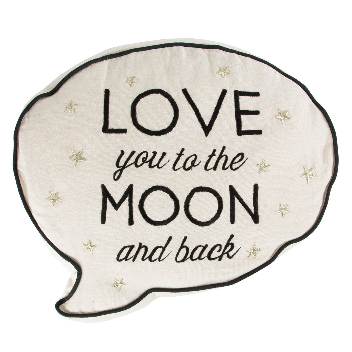love you to the moon back speech bubble cushion default image
